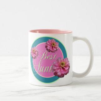 La mejor tía taza de dos tonos