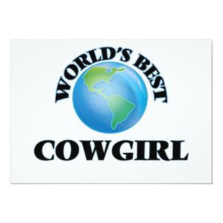 La mejor vaquera del mundo invitación 12,7 x 17,8 cm