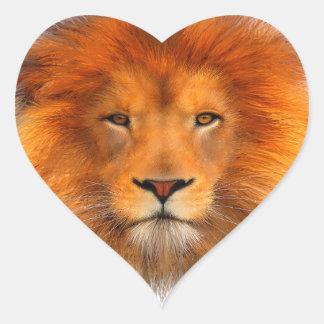 La melena del león pegatina en forma de corazón
