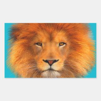 La melena del león pegatina rectangular