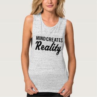La mente crea realidad camiseta con tirantes