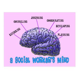 La mente del asistente social del asistente social tarjetas postales