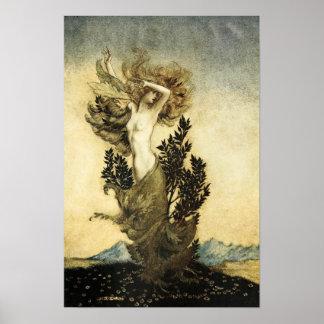 La metamorfosis de Daphne en un árbol Póster