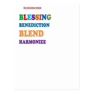La mezcla de la bendición de la bendición armoniza postales