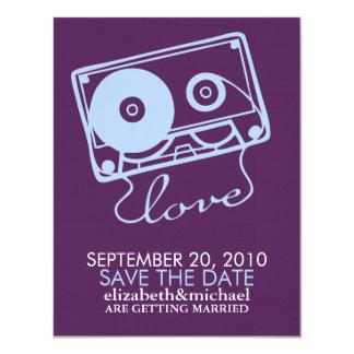 La mezcla perfecta - reserva del boda la fecha invitación 10,8 x 13,9 cm