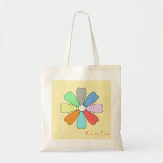 La mi bolsa de asas afortunada de la flor
