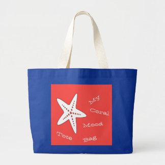 La mi bolsa de asas coralina de las estrellas de