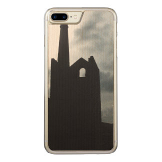 La mina del país de Poldark arruina Cornualles Funda Para iPhone 7 Plus De Carved