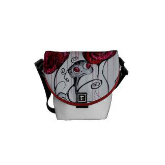 La mini bolsa de mensajero del arte lindo y bolsa de mensajería