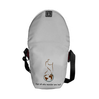 La mini bolsa de mensajero del Wanderlust para el