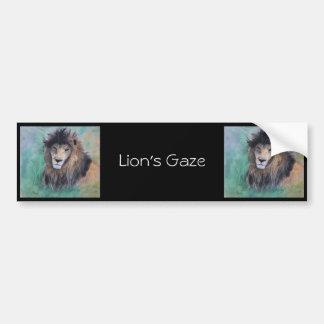 La mirada del león pegatina para coche