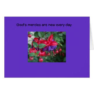 La misericordia de dios es nueva… tarjeta de felicitación