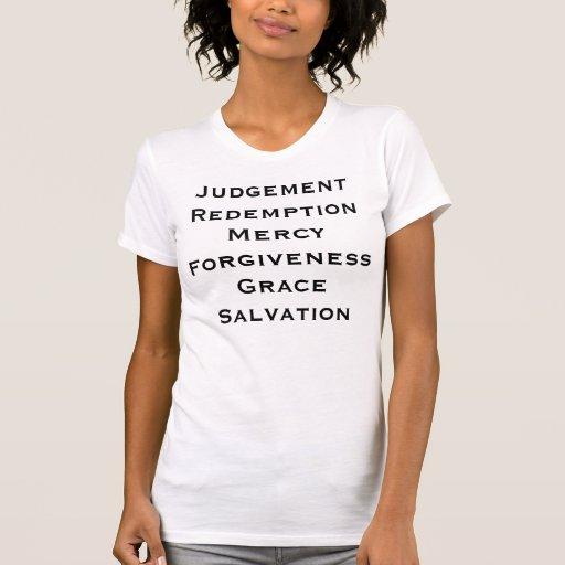 La misericordia del rescate del juicio perdona la camisetas
