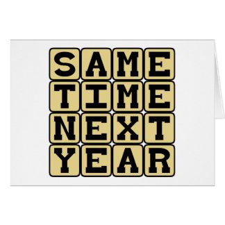 La misma hora el próximo año, cita anual tarjetas