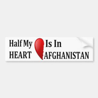 La mitad de mi corazón está en mi Afganistán Pegatina Para Coche