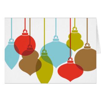 La MOD adorna tarjetas de Navidad retras