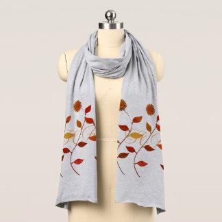 La moda de las flores del otoño de la caída añade bufanda
