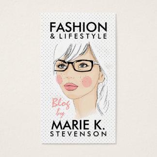 La moda de moda del ejemplo de la moda del chica tarjeta de negocios