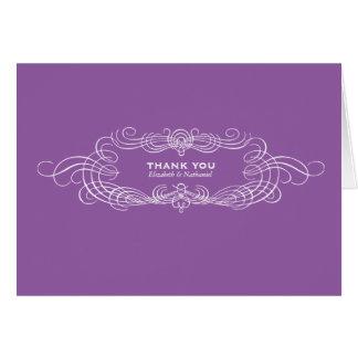 La moda del vintage le agradece cardar en púrpura tarjeta