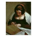 La modista, c.1640-50 tarjeta postal