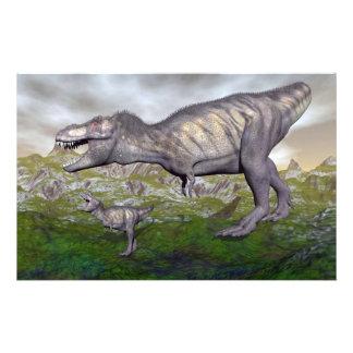La momia y el bebé 3D del dinosaurio del rex del Papelería