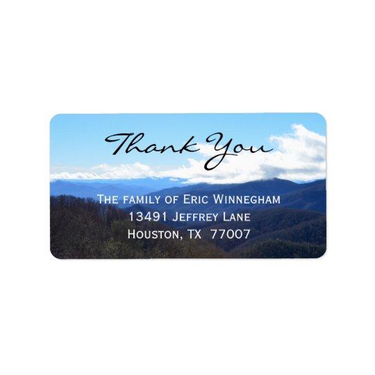 La montaña le agradece etiquetar etiquetas de dirección
