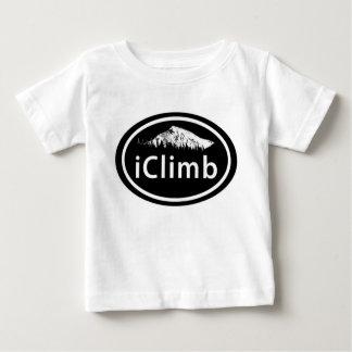 """La montaña oval del """"iClimb que sube"""" marca la Camiseta De Bebé"""