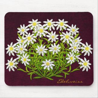 La montaña suiza Edelweiss florece Mousepad Alfombrilla De Ratón