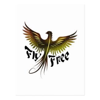 La mosca libera postal