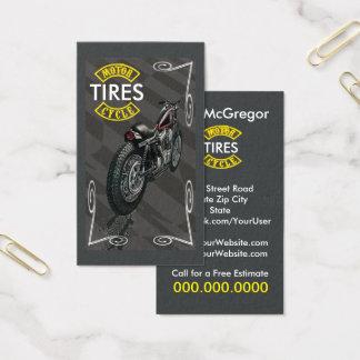 La motocicleta cansa la tarjeta de visita