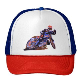 La motocicleta plana más fresca del carretera de gorros bordados