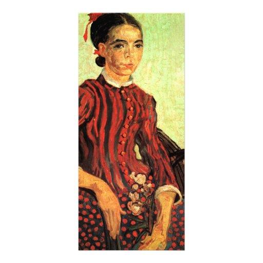 La Mousme, sentándose por Vincent van Gogh Tarjetas Publicitarias A Todo Color