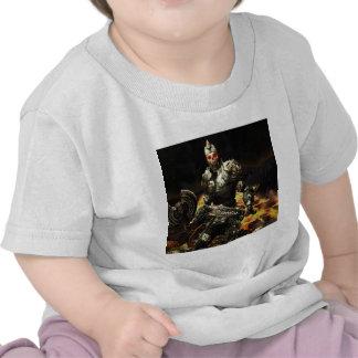 La muerte abstracta del horror viene armadura camiseta