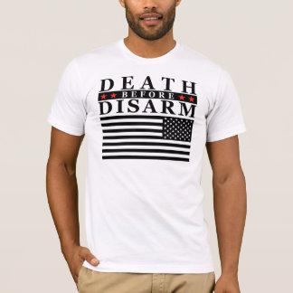 La muerte antes desarma - la bandera de batalla camiseta