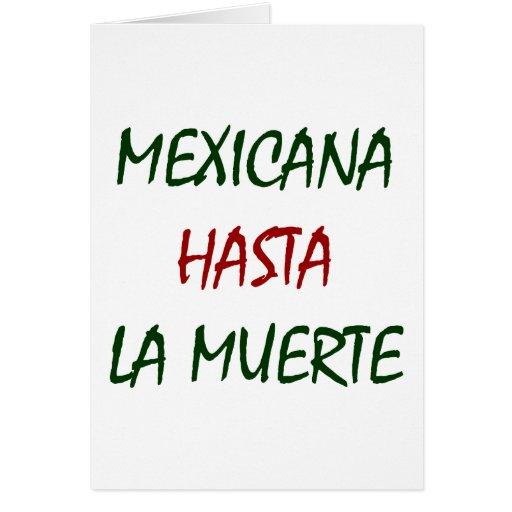 La Muerte de Mexicana Hasta Felicitacion
