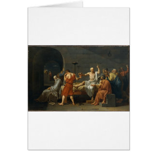 La muerte de Sócrates Tarjeta