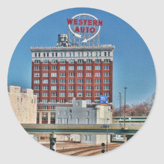 La muestra auto occidental de Kansas City Etiqueta Redonda