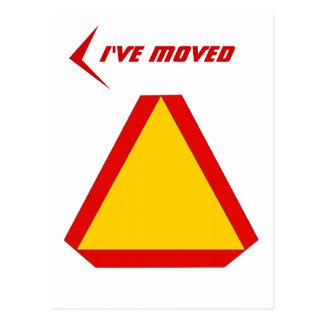 La muestra de movimiento lento de la postal movió