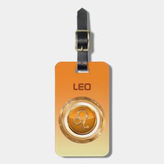 La muestra del horóscopo del león etiqueta para maletas
