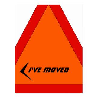 La muestra móvil abstracta de la postal movió la