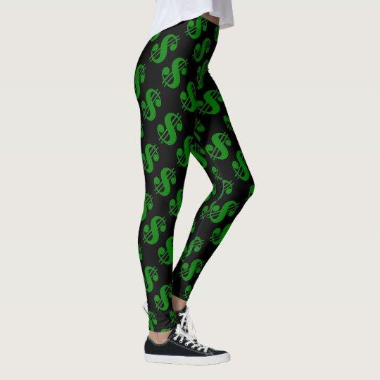 La muestra negra del dinero de viernes jadea las leggings