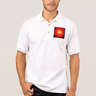 La muestra OM en oro Camiseta Polo