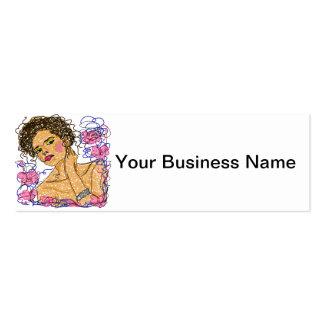 La mujer de la moda florece práctica de dibujo del tarjetas de visita mini