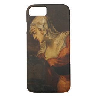 La mujer de Samaria en bien, c.1560 (aceite en c Funda iPhone 7