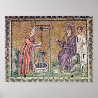 La mujer de Samaria en el pozo Póster