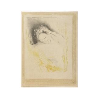 La mujer de Sulem, Odilon Redon, 1897 Póster De Madera