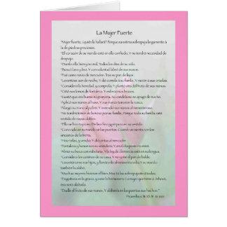 La Mujer Fuerte Carta Tarjeta De Felicitación