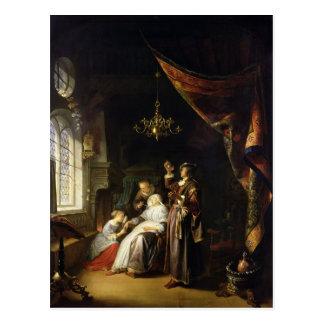 La mujer hidrópica, c.1663 postal