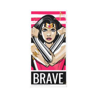 La Mujer Maravilla defiende - la plantilla Impresión En Lienzo
