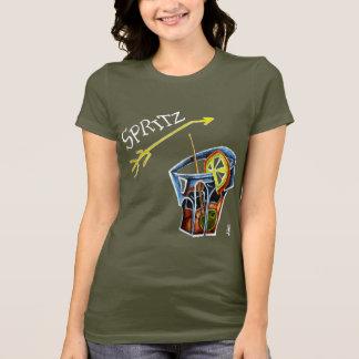 La mujer Spritz la camiseta - bebida italiana de